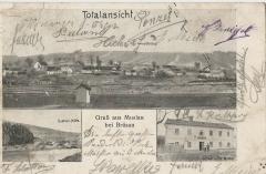 Pohlednice Muzlov - část obce Quellen Hütte