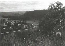 Pohled na stavbu regulace z úpatí Muzlovského tunelu