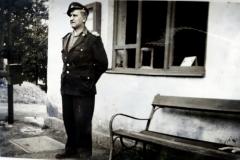 František Ducháček ve službě - zastávka Dlouhá