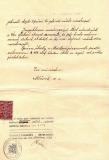 Opis jmenovacího dekretu pana řídícího Bubeníka