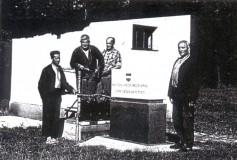 Stavba II. brněnského vodovodu - umístění základního kamene.