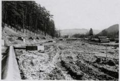 Stavba II. brněnského vodovodu roku 1974.