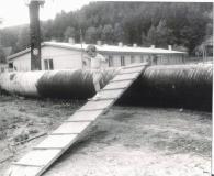 Stavba II. brněnského vodovodu roku 1973.