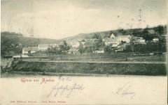 Celkový pohled na obec Muzlov - rok 1907