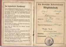 Pracovní knížka z období druhé války