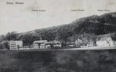 Pohled  na továrnu Adolfa Freunda, Beamt a Weiglův mlýn