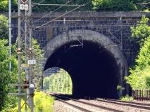 Pohled na severní portál muzlovského tunelu