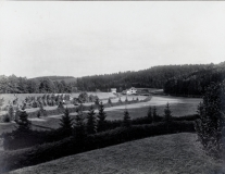 Pohled na strážní domek z oblasti Quellhütte
