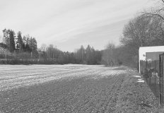 Pohled na trať od správní budovy vodáren města Brna