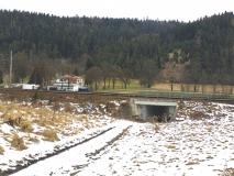 Pohled na trať z Ančina údolí - porovnávací 2021