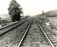 Pohled na kolejiště za tunelem- směr Svitavy 1968